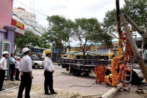 công ty điện lực evnspc khắc phục bão số 9